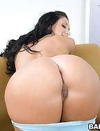 Ava has got the entire package: Cute Face, Double D's, Flat tummy and a huge tight ass!