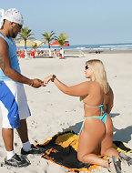 Super hot fucking big tits brazil babe bruna gets a big cock rammed up her in these hot big poolside bikini pics