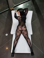 amazing fishnet stockings neonate  Valerie fucked in the air in will not hear of hot ass hot shafting screaming sex